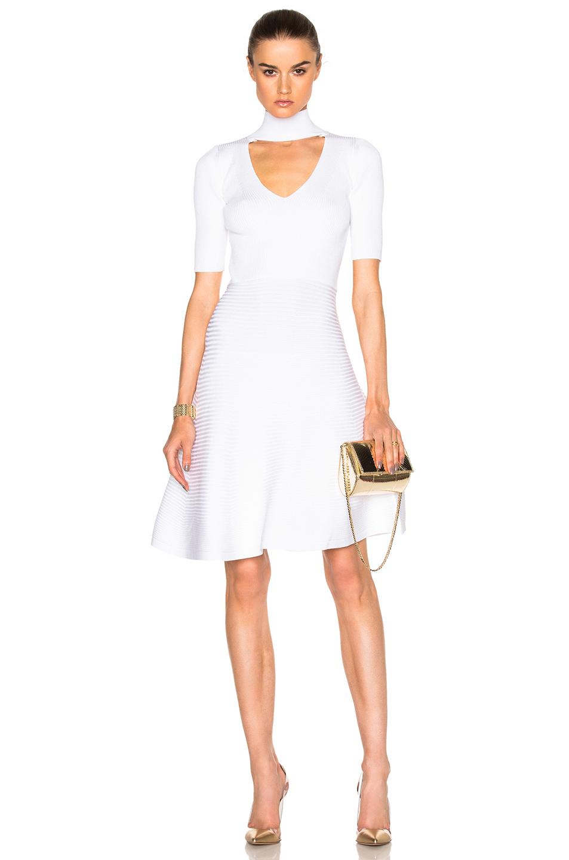 Cushnie et Ochs for FWRD Turtleneck Mini Dress in White