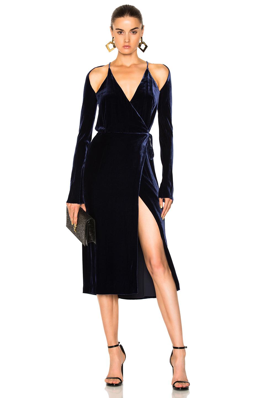 Dion Lee Contour Dress in Blue