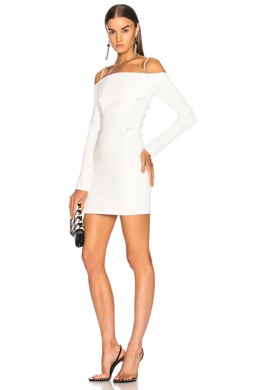 Dion Lee Long Sleeve Mini Dress in White
