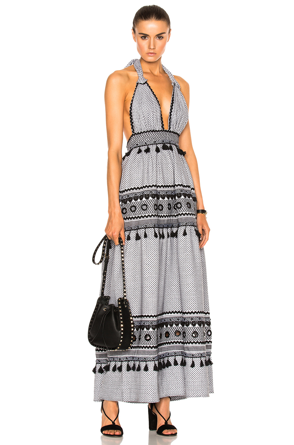 Dodo Bar Or David Dress in Abstract,Black,White