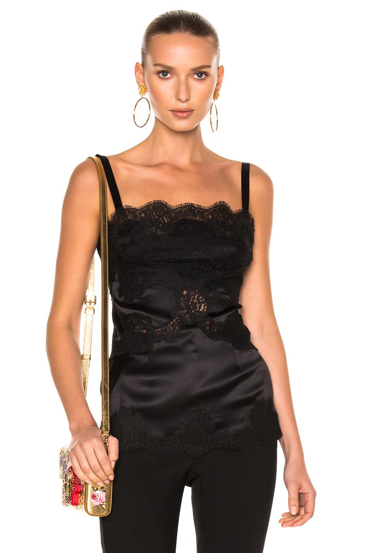 Dolce & Gabbana Lace Teddy in Black