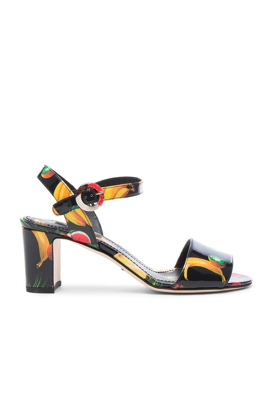 Dolce & Gabbana Heeled Sandals in Black,Red
