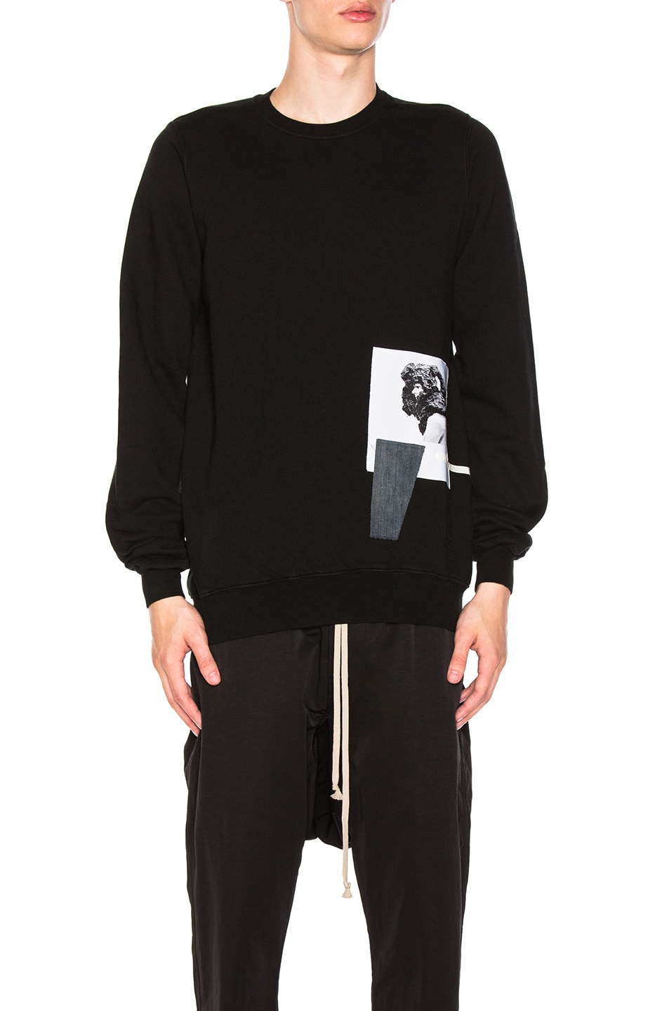 DRKSHDW by Rick Owens Crewneck Sweatshirt in Black