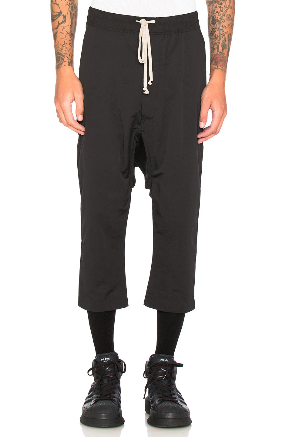 DRKSHDW by Rick Owens Cropped Sweatpants in Black