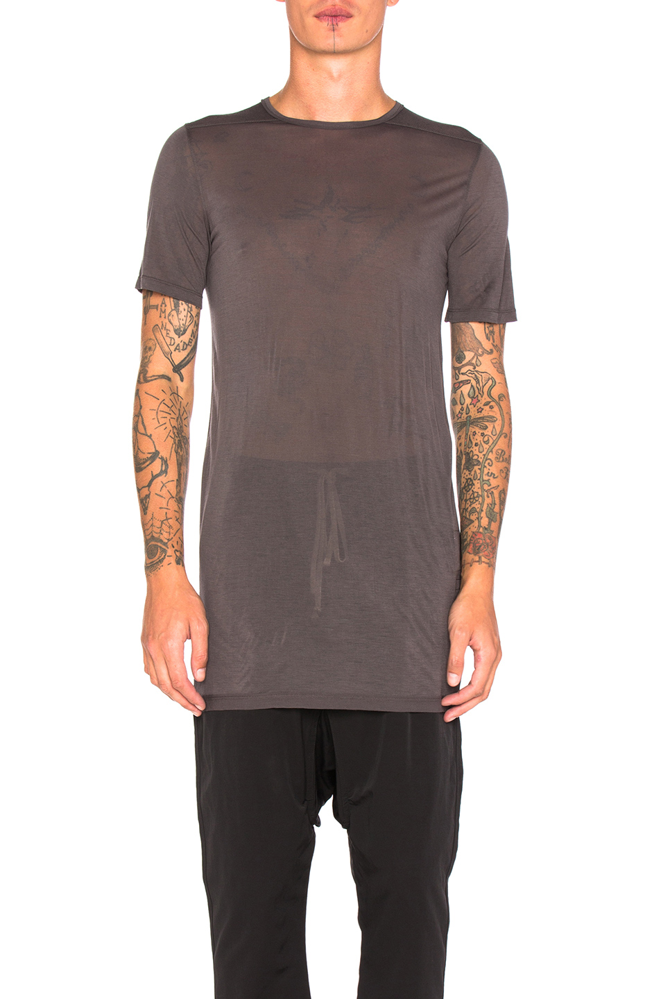 DRKSHDW by Rick Owens Level Tee in Gray