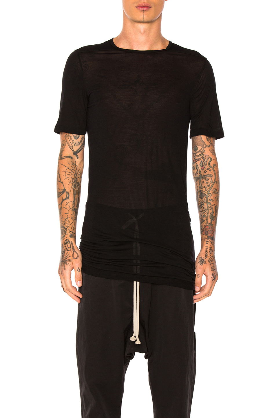 DRKSHDW by Rick Owens Level Tee in Black