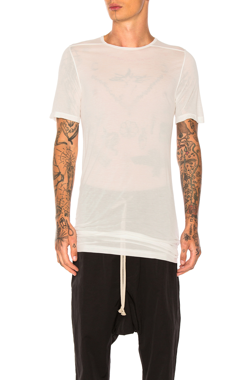 DRKSHDW by Rick Owens Level Tee in White