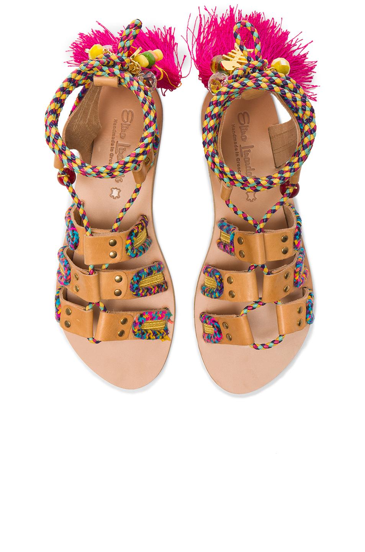 Elina Linardaki Pisces Sandals in Neutrals,Pink