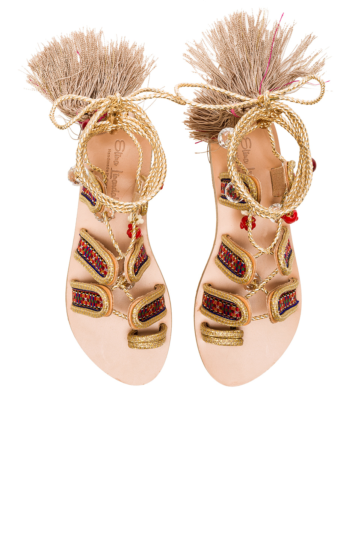 Elina Linardaki The Great Gatsby Sandals in Metallics,Neutrals