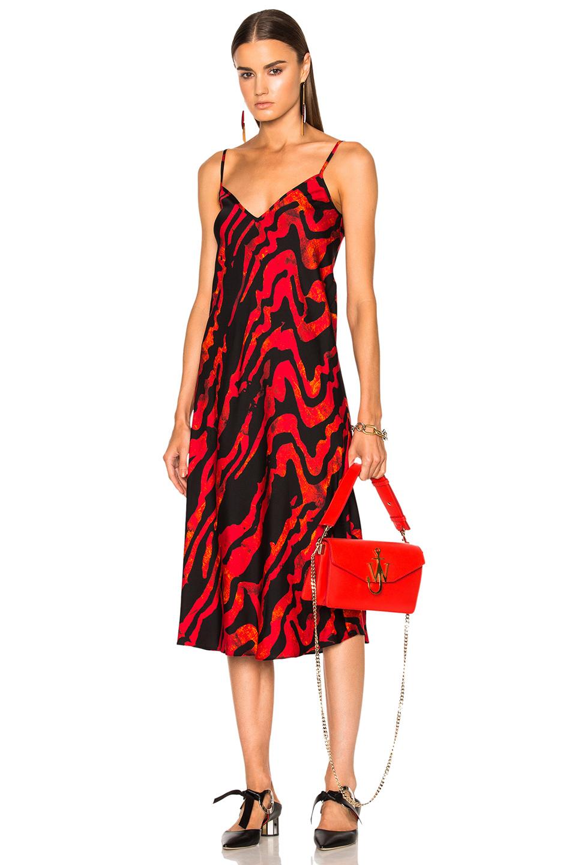 Ellery Runaway Daughter Dress in Abstract,Black,Red