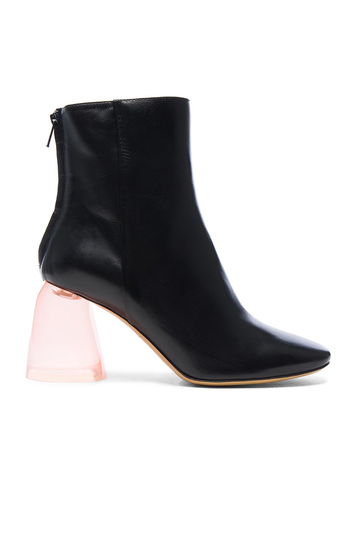 Ellery Leather Sacred Booties in Black