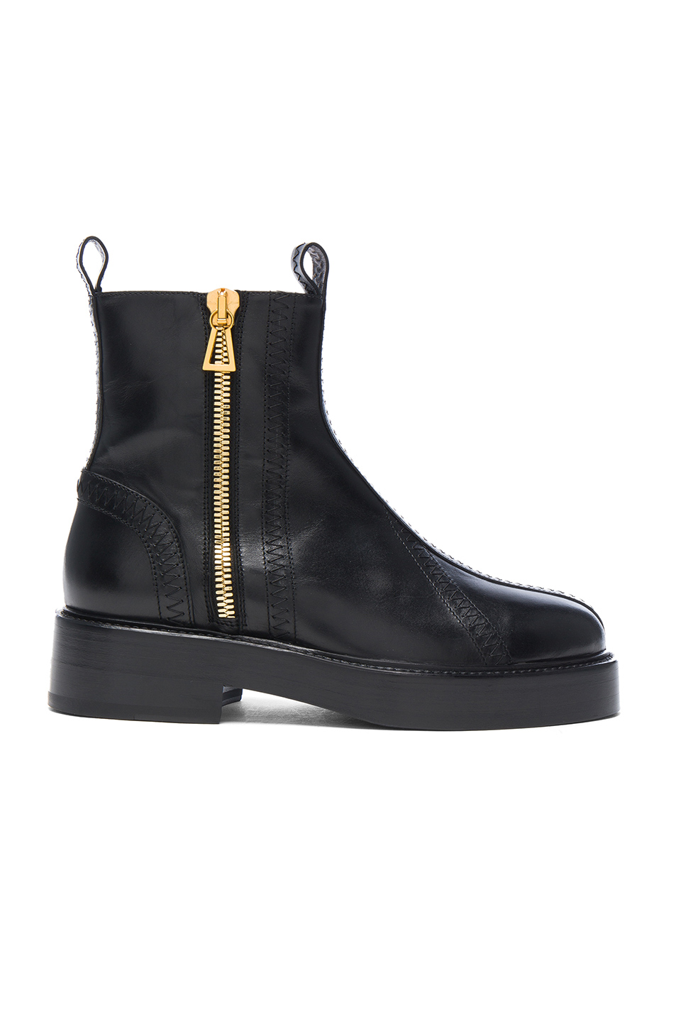Ellery Leather Boots in Black