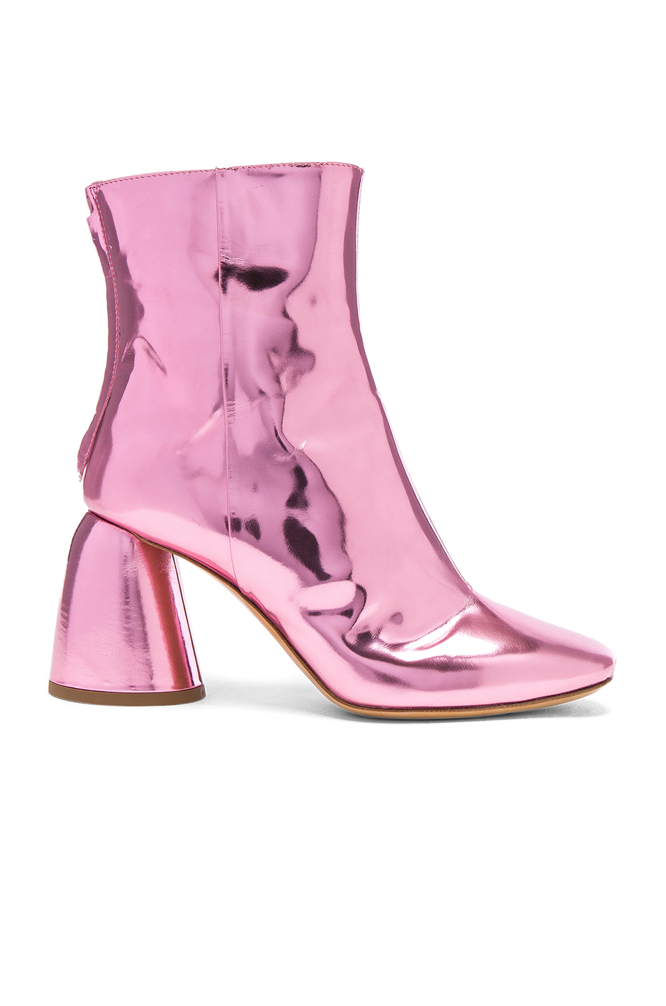 Ellery Patent Leather Jezebels Boots in Metallics,Pink