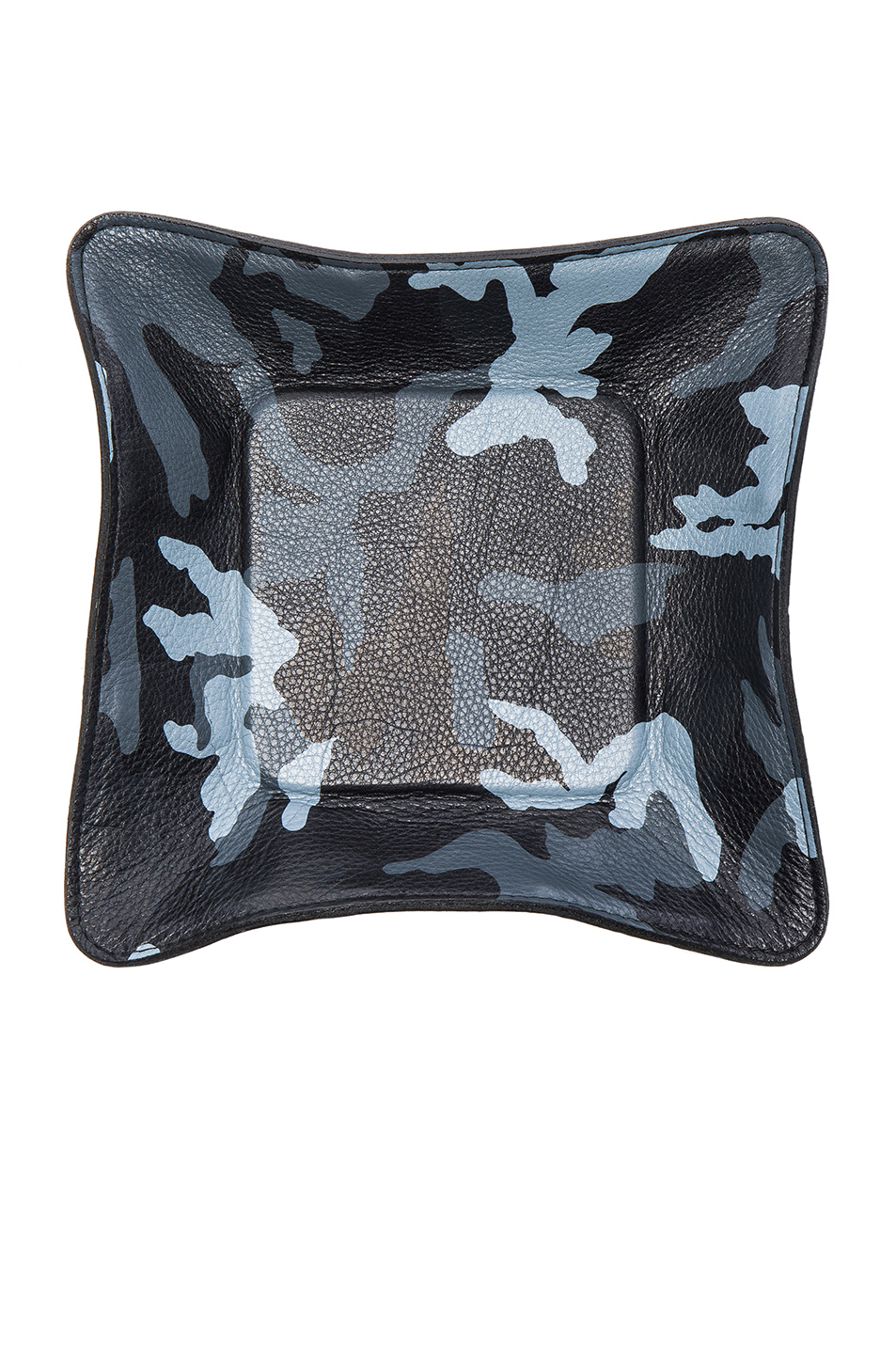 Elisabeth Weinstock Quebec Leather Camo Tray in Abstract,Blue