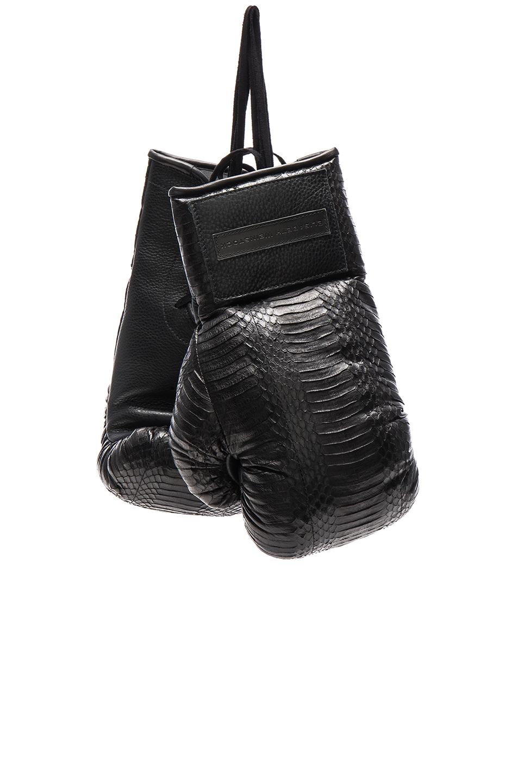 Elisabeth Weinstock Manila Boxing Gloves in Black,Animal Print