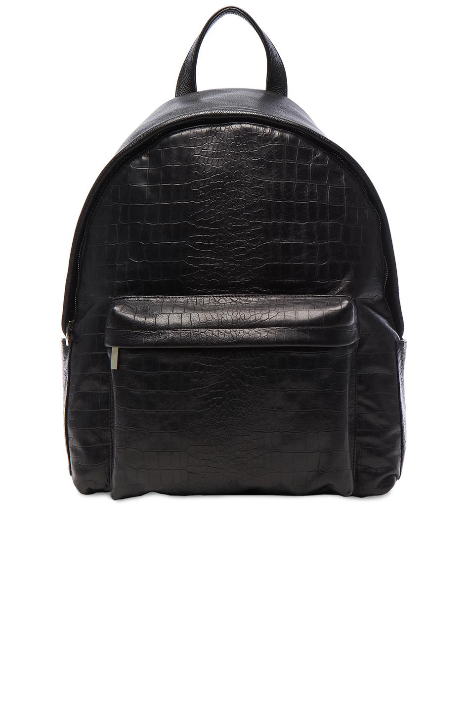 Elisabeth Weinstock Large Andes Backpack in Black,Animal Print