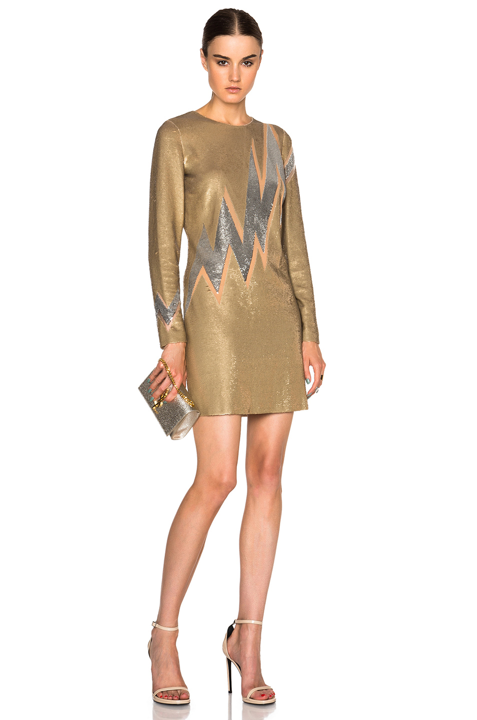 Emilio Pucci Sequin Mini Dress in Metallics