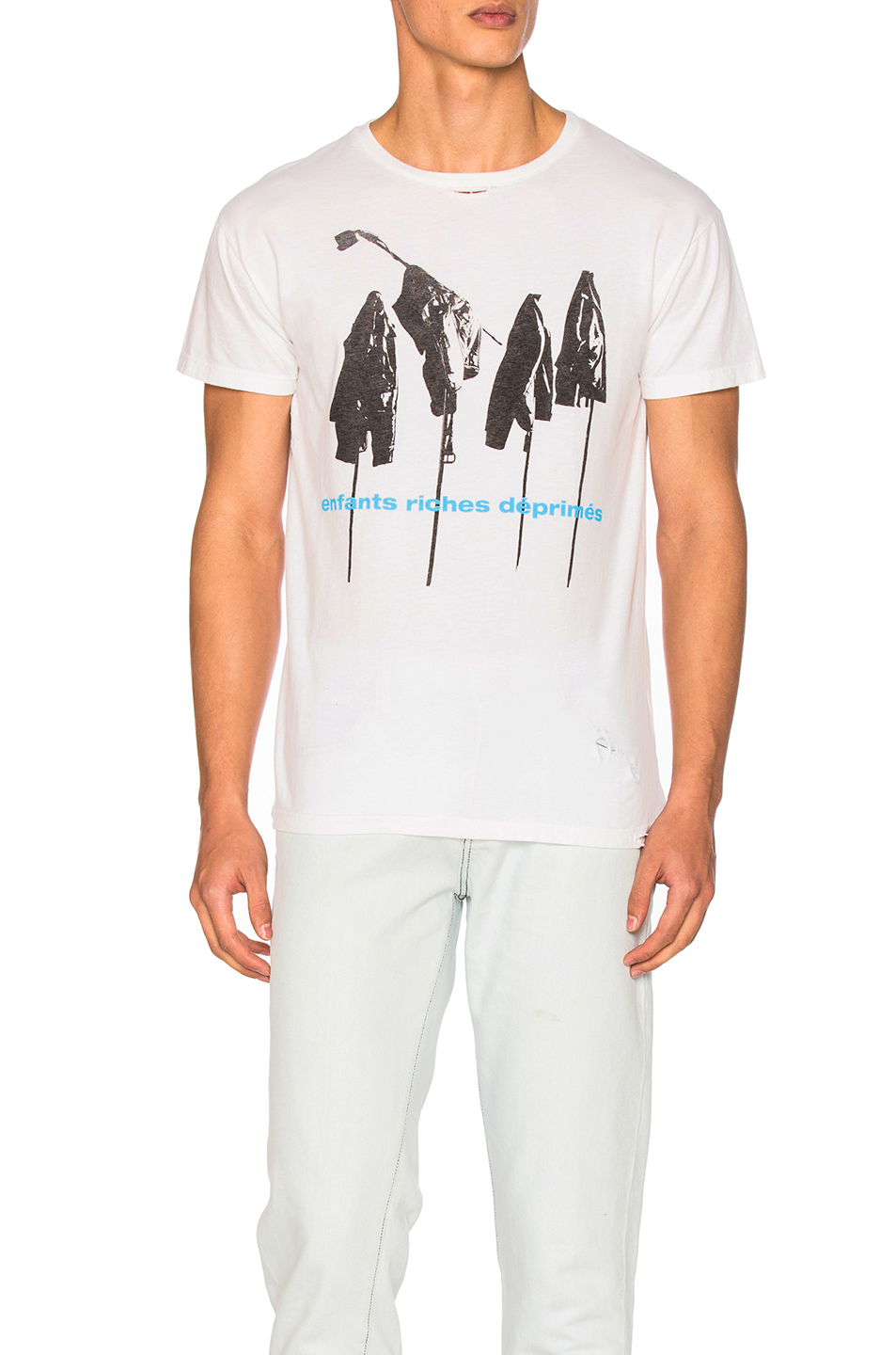 Enfants Riches Deprimes Repetition Tee in White