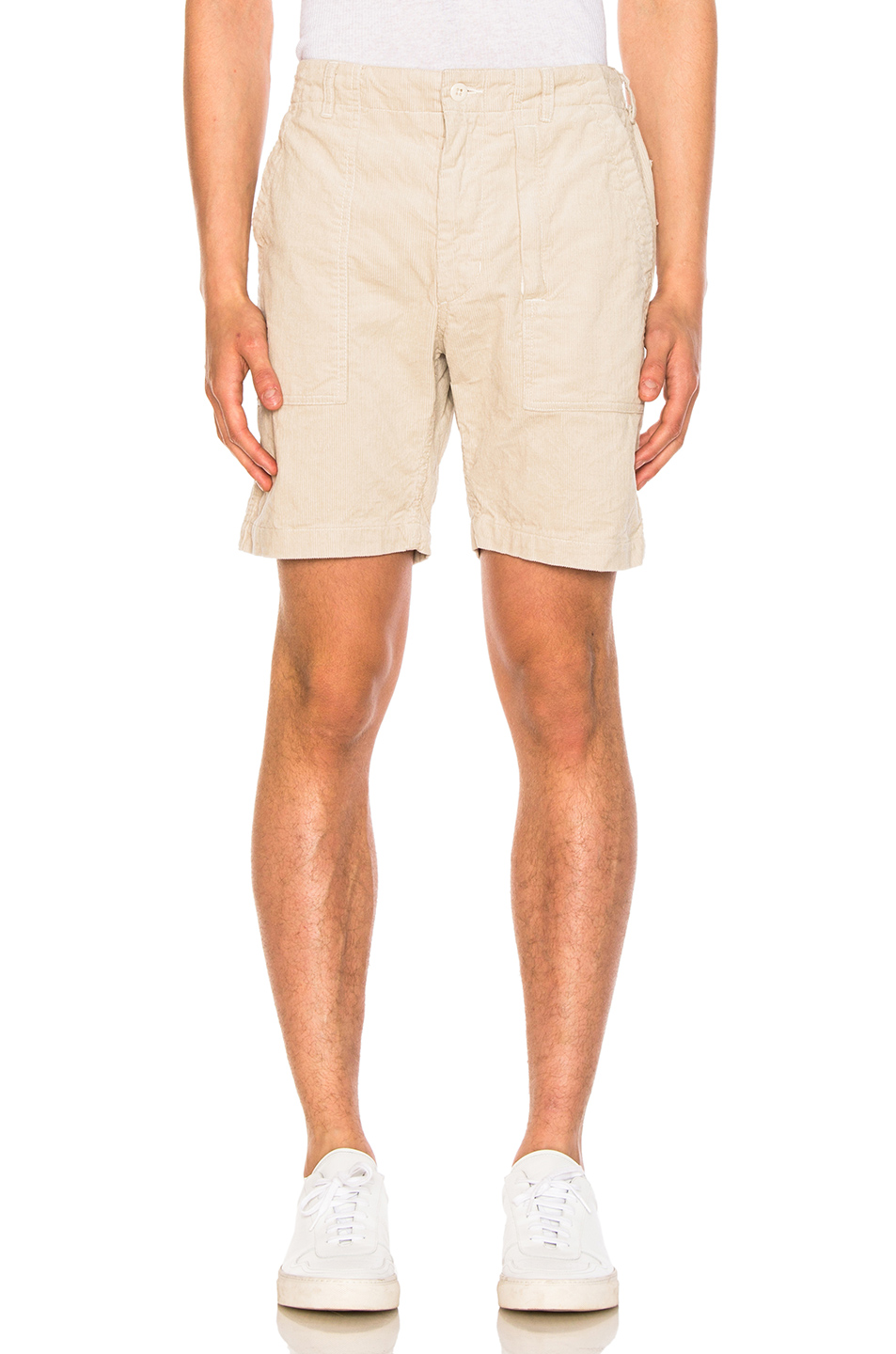 Engineered Garments Corduroy Fatigue Shorts in Neutrals