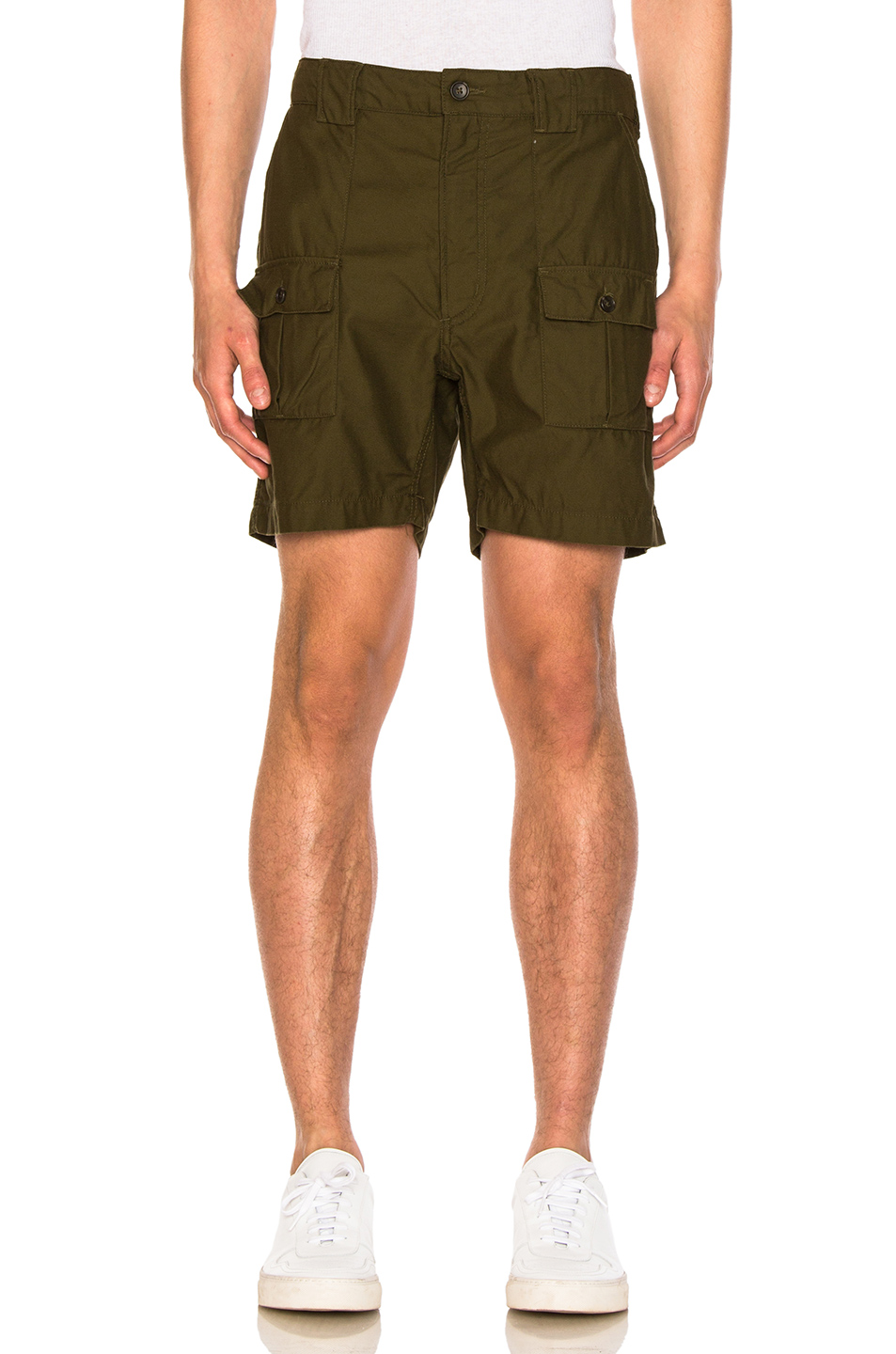 Engineered Garments Ranger Shorts in Green
