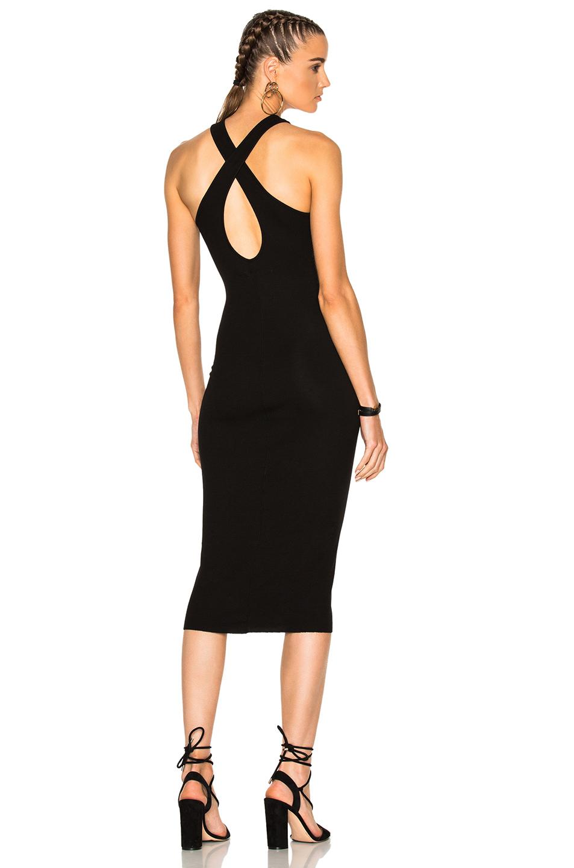 Enza Costa Crossback Dress in Black