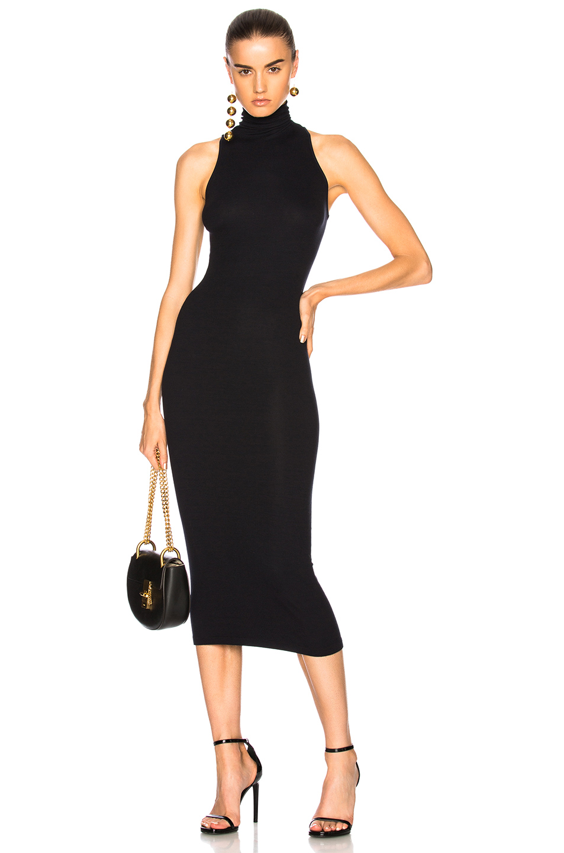 Enza Costa Turtleneck Sleeveless Dress in Black
