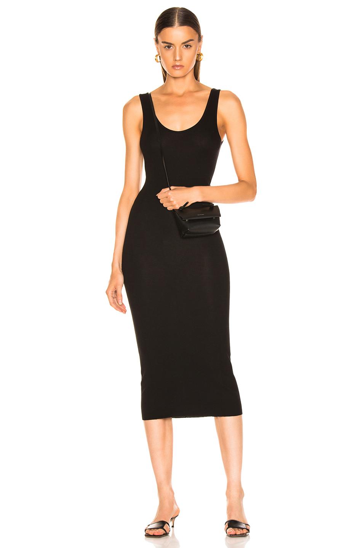 Enza Costa Rib Tank Viscose-Blend Dress in Black