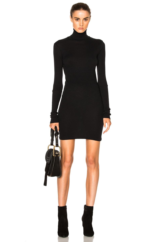 Enza Costa Cashmere Turtleneck Dress in Black