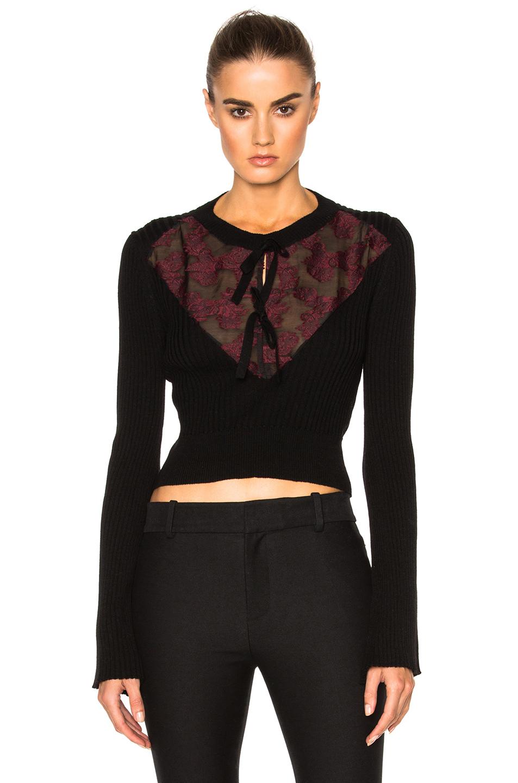 Erdem Knit Merino Celia Jumper in Black