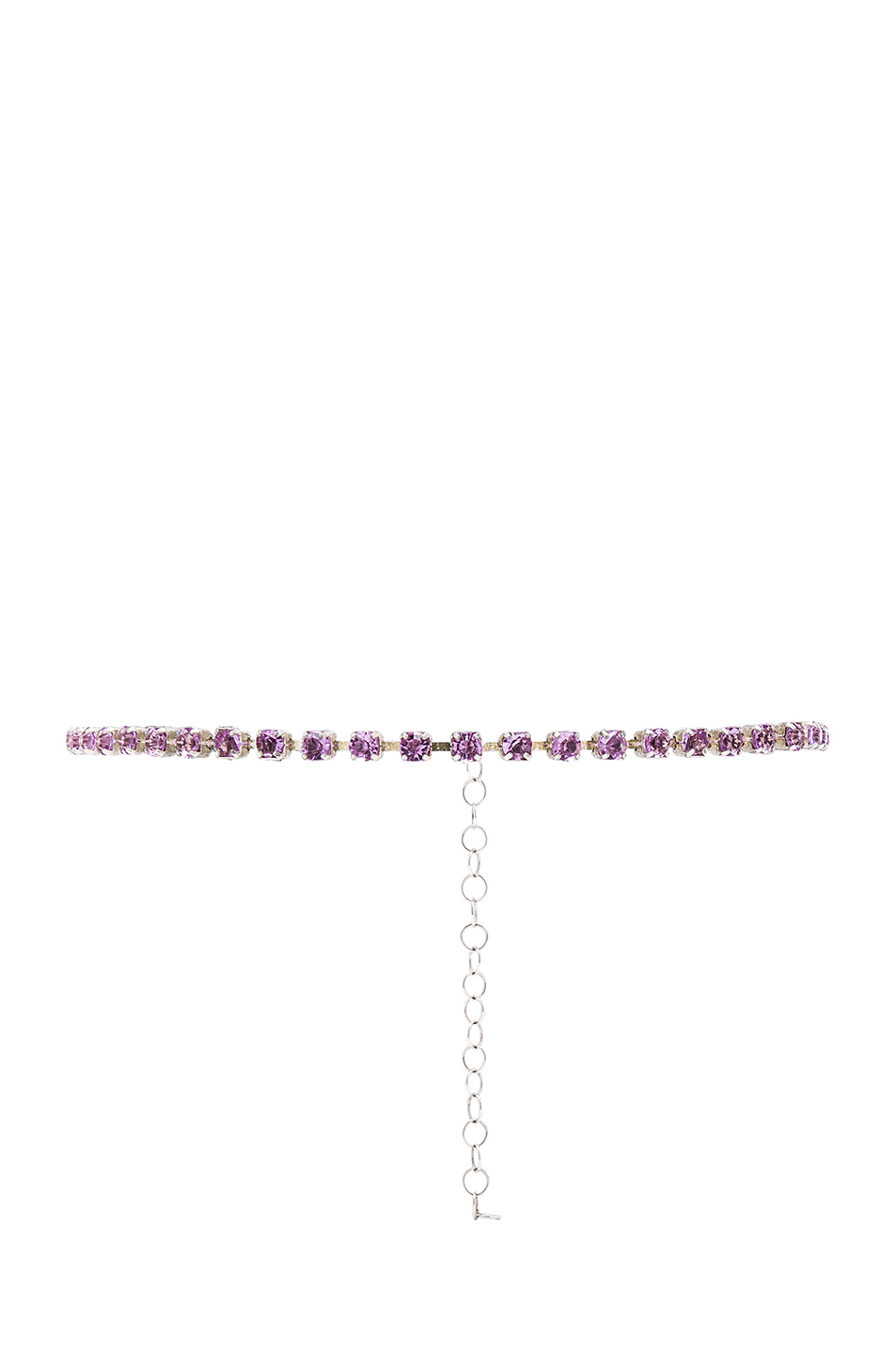 ERTH for FWRD Sterling Silver Crystal Necklace in Pink,Metallics