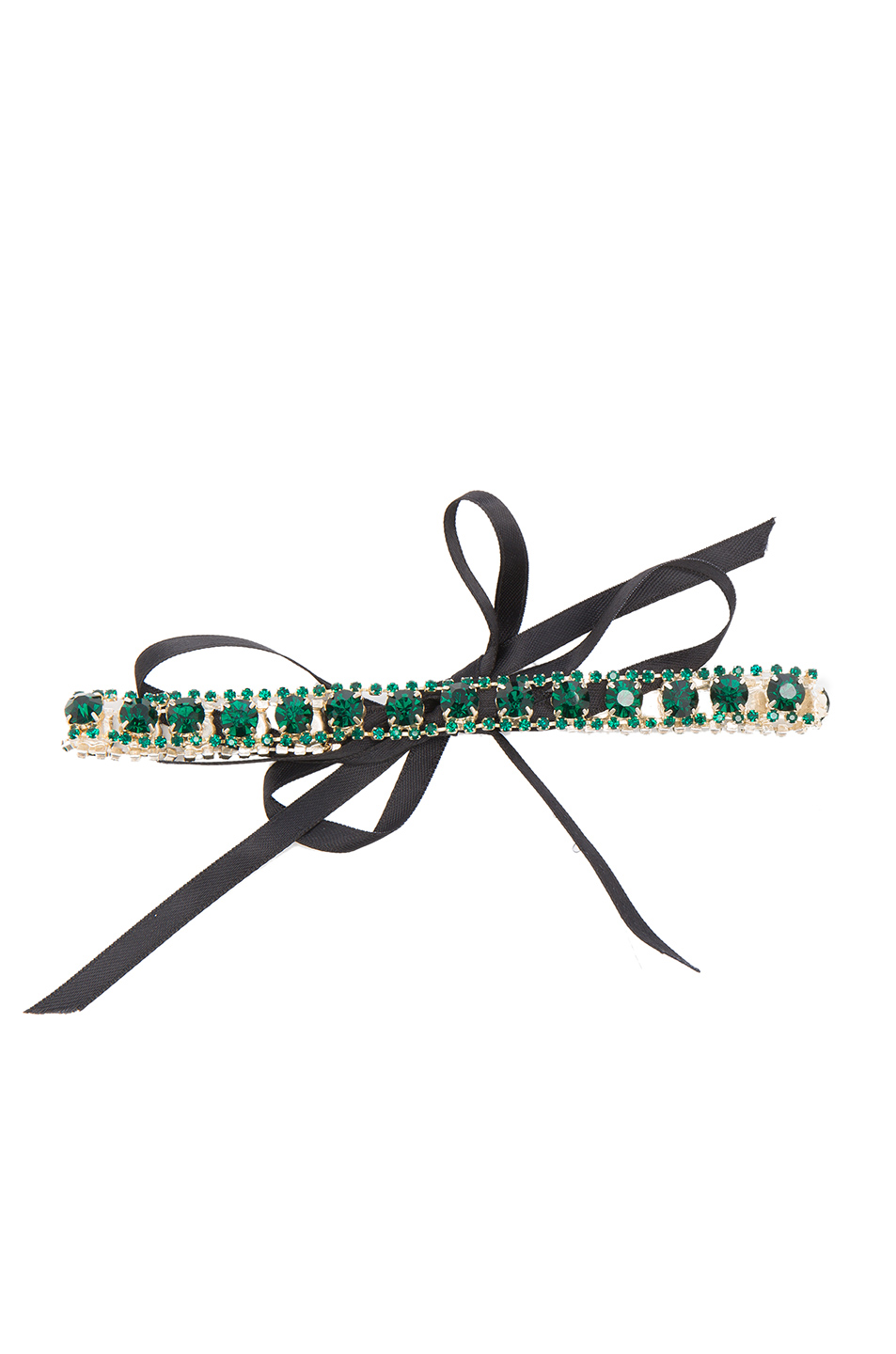ERTH for FWRD Vintage Crystal Choker in Metallics,Green