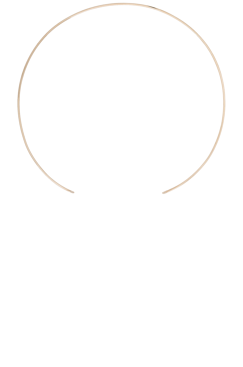 ERTH 14K Gold Thin Choker in Metallics