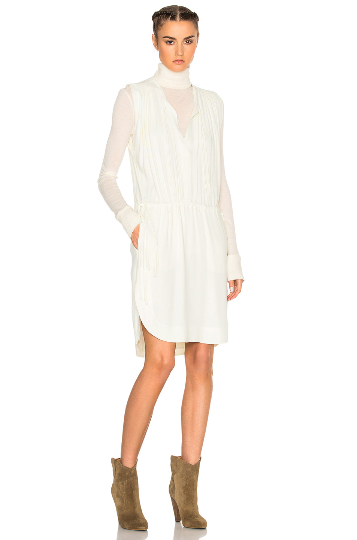 Isabel Marant Etoile Nicky Heavy Crepe Dress in White