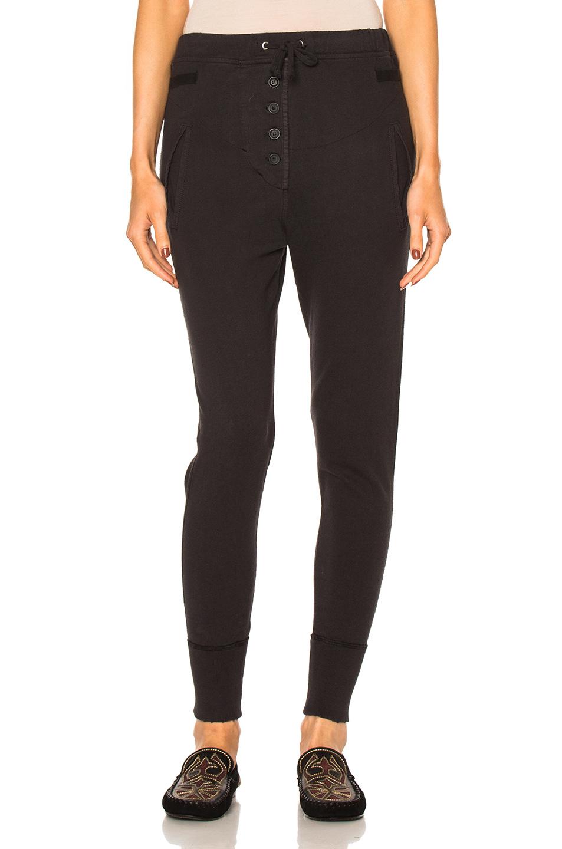 Isabel Marant Etoile Angele Heavy Cotton Sweatpants in Black