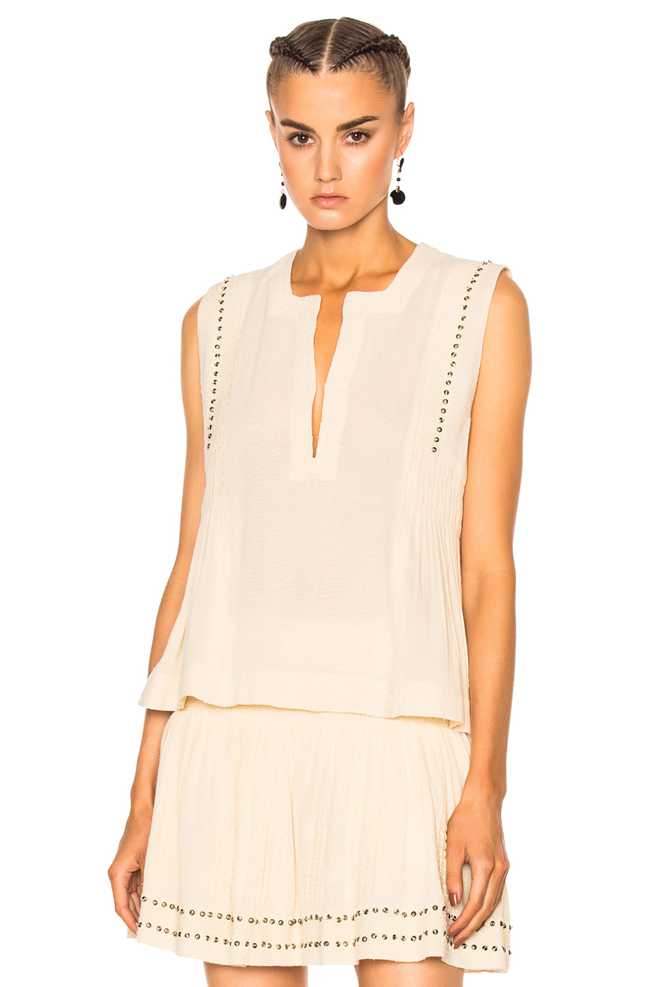 Isabel Marant Etoile Adonis Something Ethnic Top in Neutrals