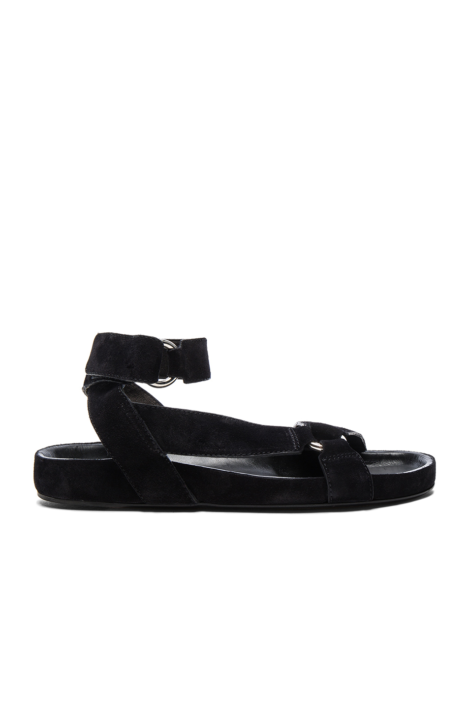 Isabel Marant Etoile Suede Loatis Easy Chic Sandals in Black