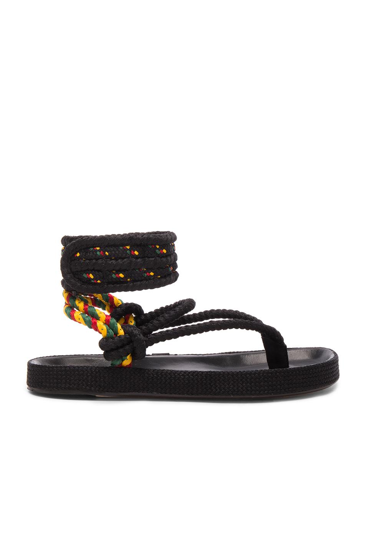 Isabel Marant Etoile Rope Epipa Sandals in Black