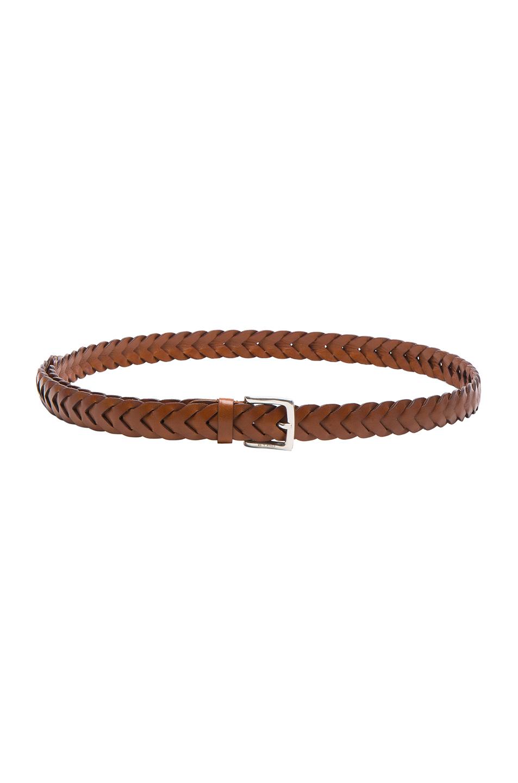Etro Donna Braided Belt in Brown