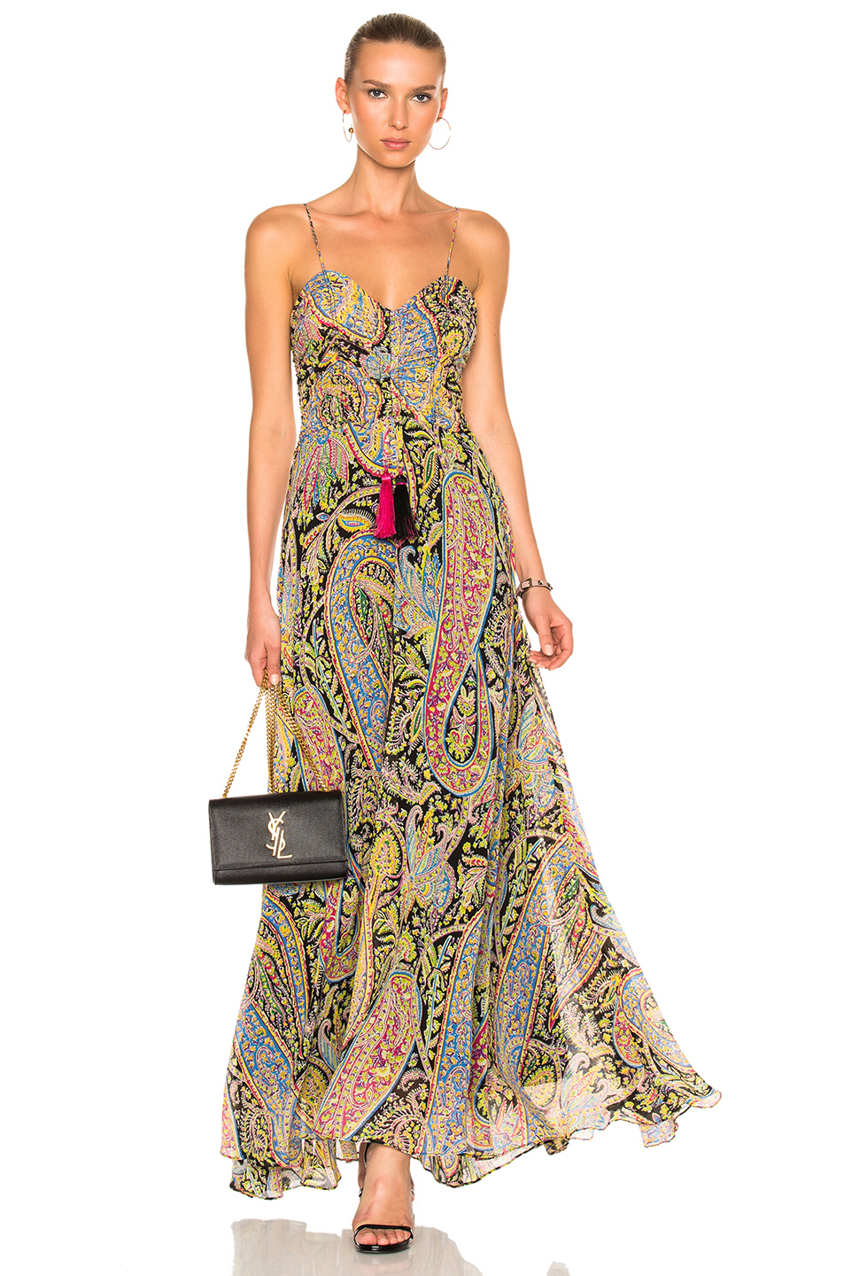 Etro Doranger Dress in Abstract,Pink,Yellow