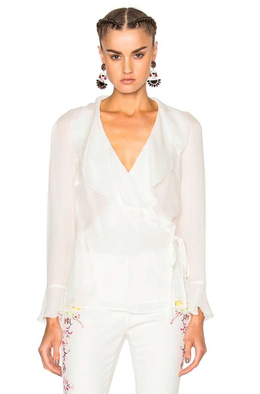 Etro Gemma Ruffle Blouse in White