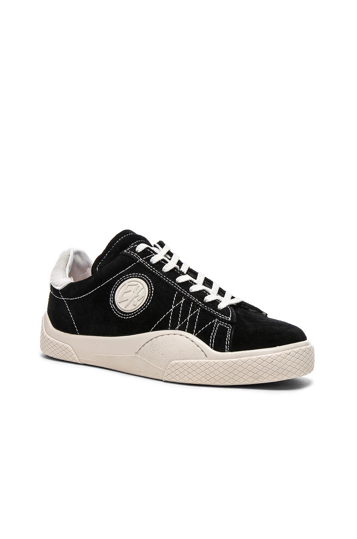 Eytys Suede Wave Rough Sneakers in Black