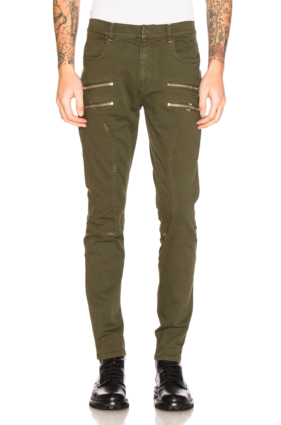 Faith Connexion Zip Run Jeans in Green