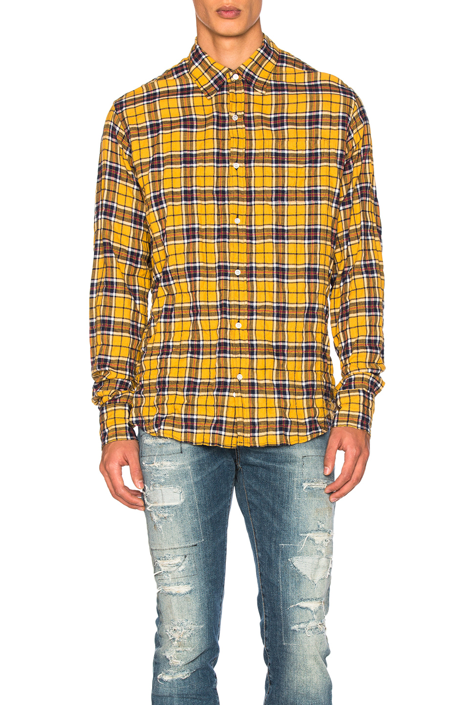 Faith Connexion Check Loose Shirt in Yellow,Checkered & Plaid