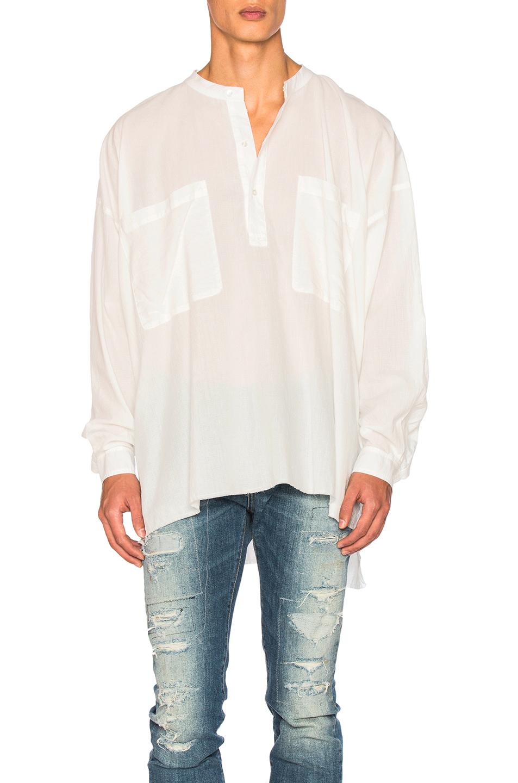 Faith Connexion Vintage Oversized Pocket Top in White