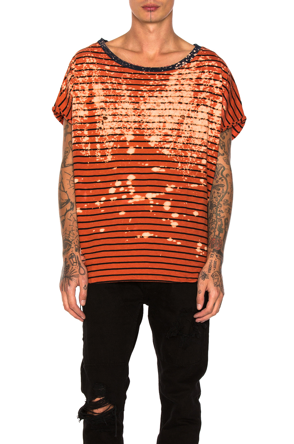 Faith Connexion Stripe Tee in Orange,Stripes