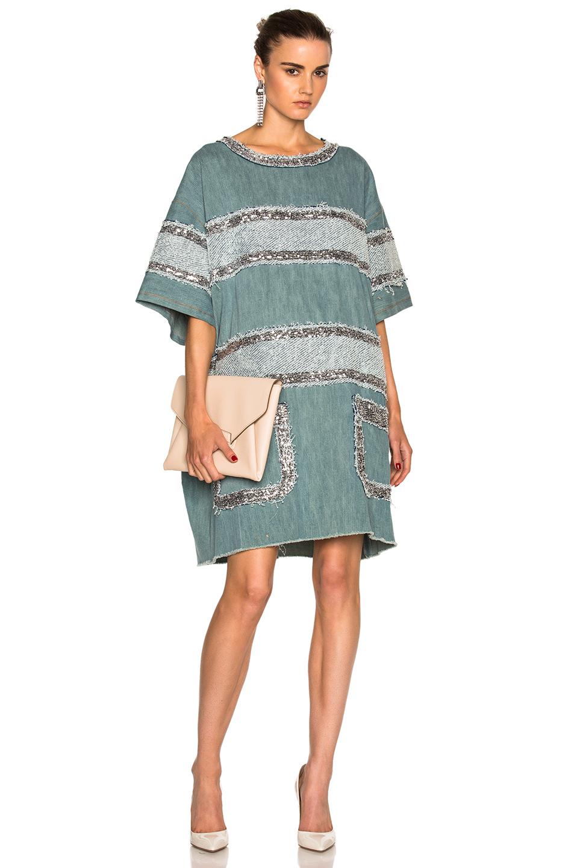 Faith Connexion Fleece Dress in Blue