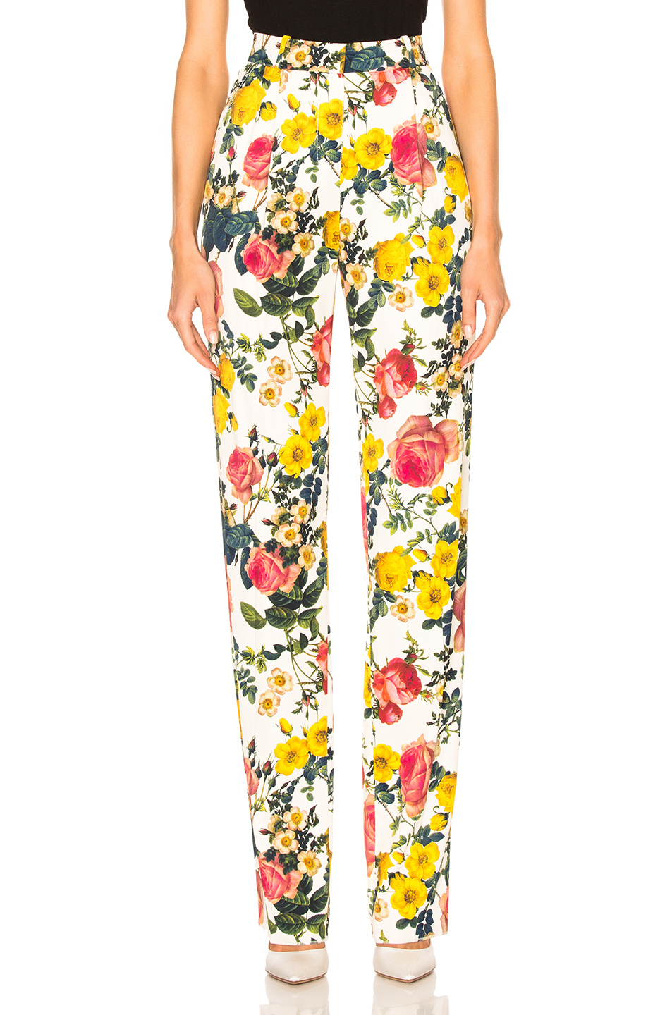 Fausto Puglisi Pant in Floral,White
