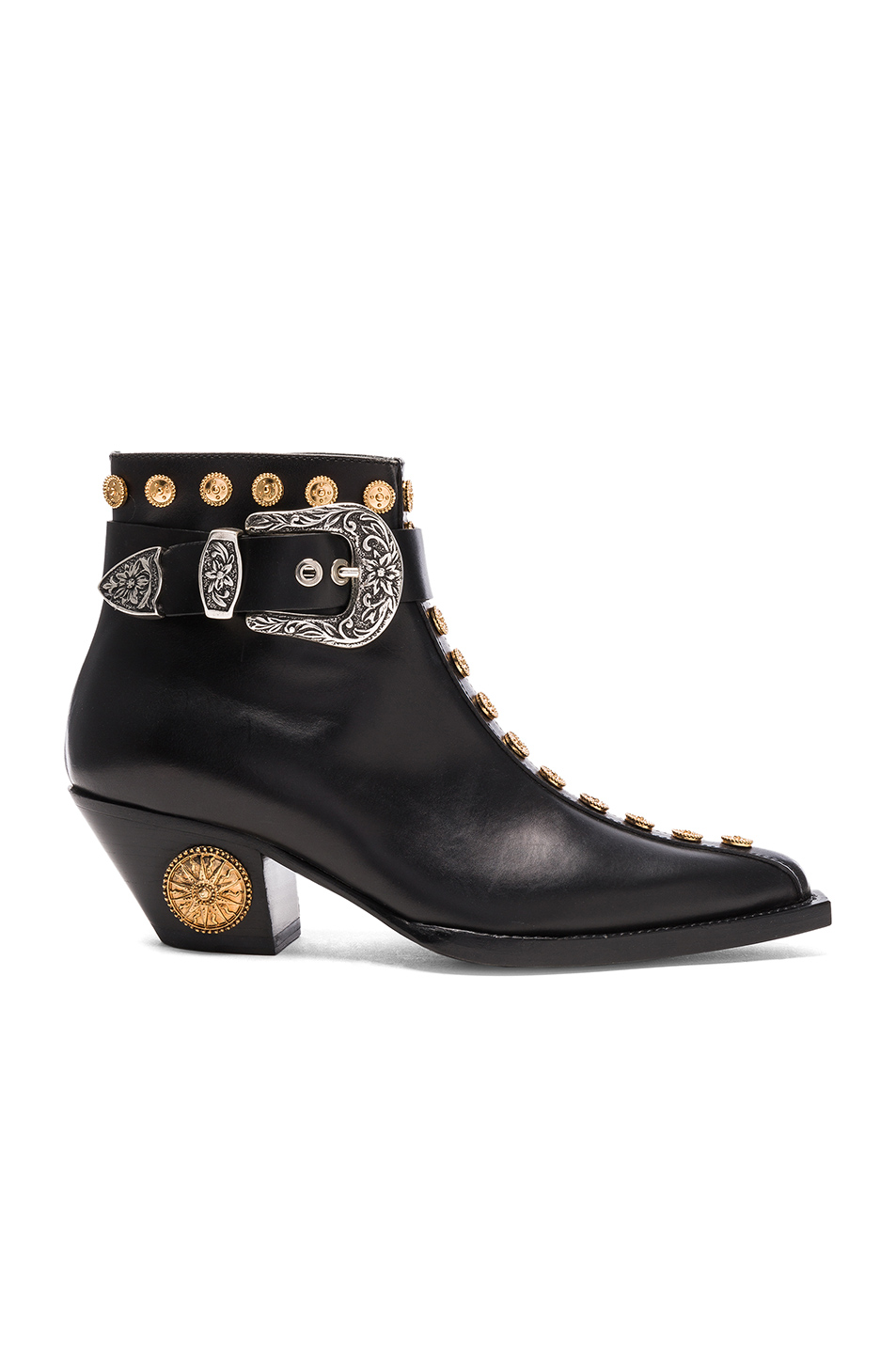 Fausto Puglisi Studded Leather Booties in Black