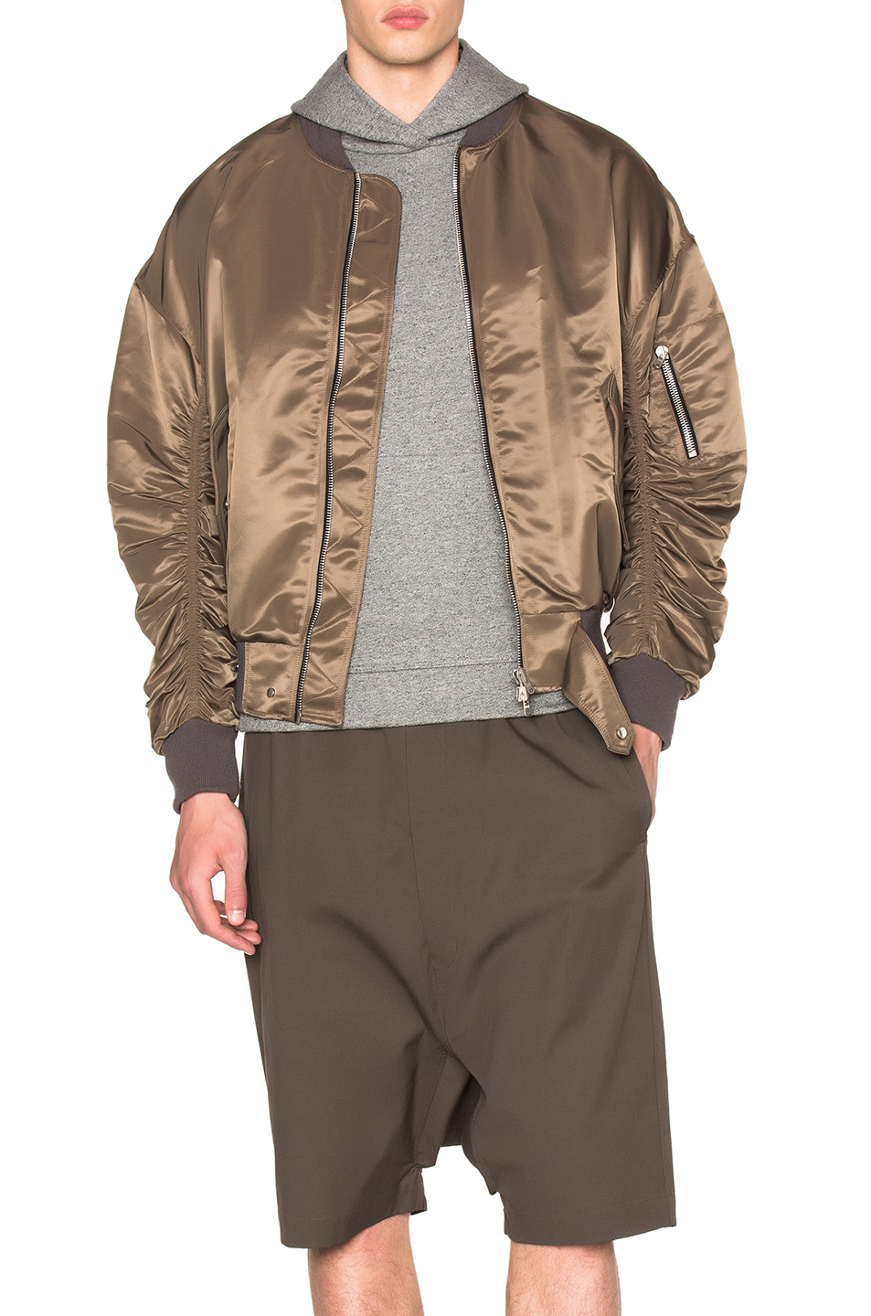 Fear of God Nylon Bomber Jacket in Brown
