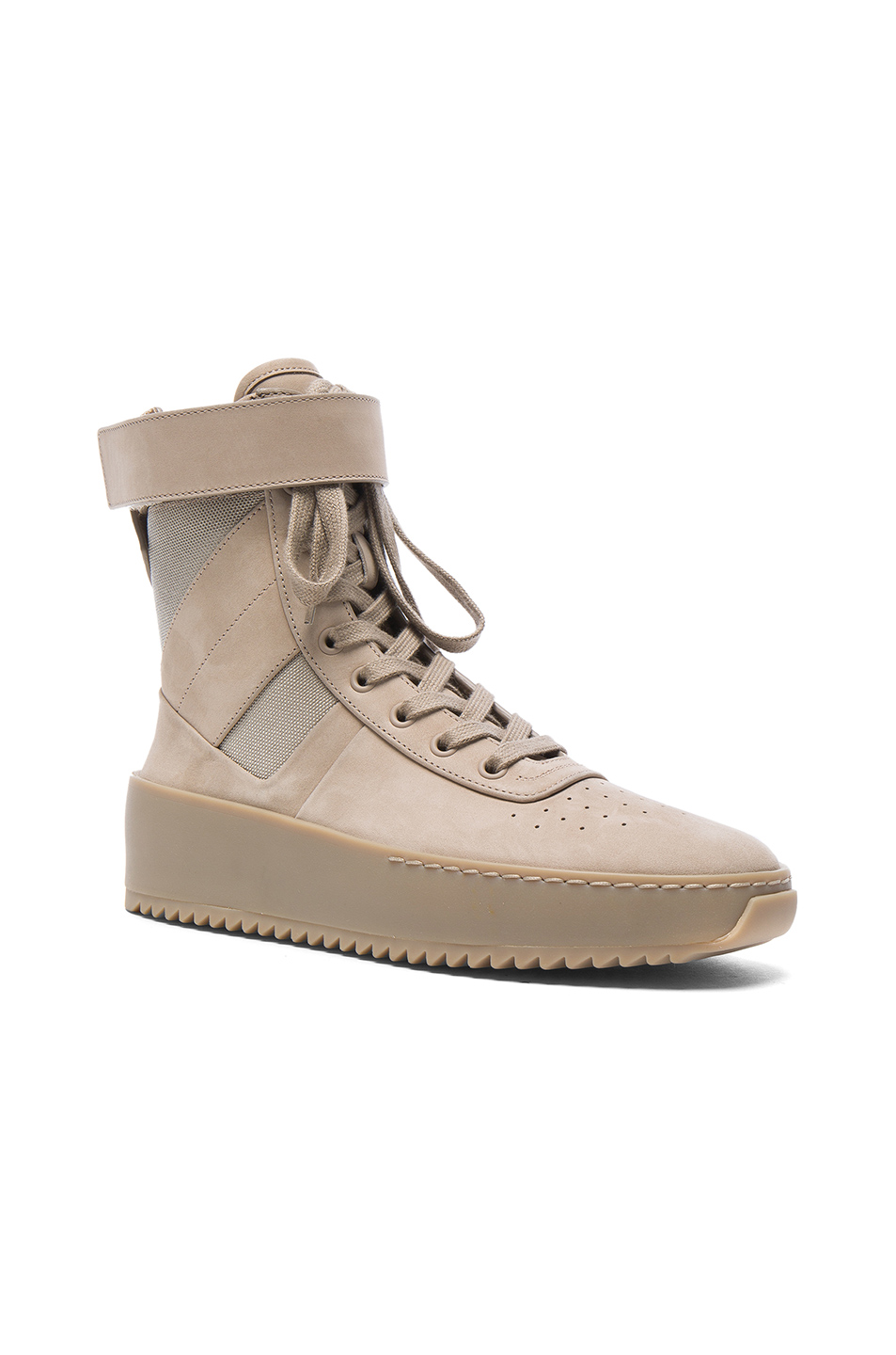 Fear of God Nubuck Leather Military Sneakers in Neutrals